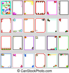 Recipe notes - A large group of different pages for recipe...