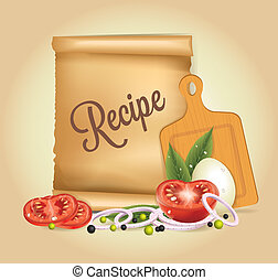 Recipes Banner vector