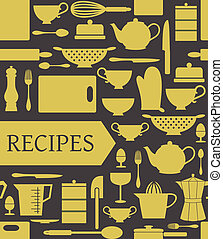 Recipes Card - Recipes card with different kitchen...