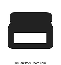 recipient container cream productcpsmetic medical vector graphic isolated and flat illustration