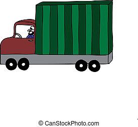 recipiente, caminhão