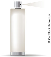 recipiente, isolado, cosmético, fundo, branca, transparente