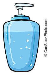 recipiente, sabonetes, líquido
