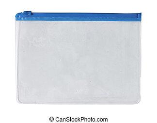 recipiente, transparente, plástico