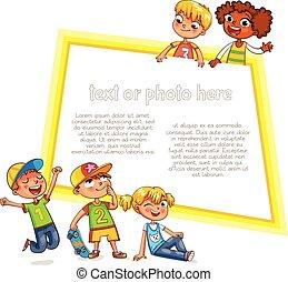reclame, mal, brochure., gereed, boodschap, jouw