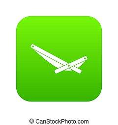 Recliner icon digital green