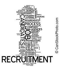 reclutamento, parola, nuvola