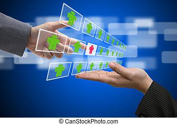 reclutamiento, concepto, mano de obra, empresa / negocio