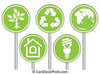 recoger, ambiente, bandera