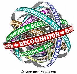 Recognition Appreciation Cycle Flow Rewards Word 3d Illustration