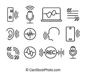 recognition voz, ícones