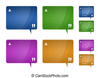 recomendaciones, bloques, para, tela, plantilla, diseño