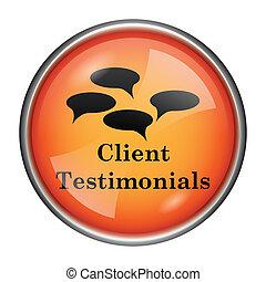 recomendaciones, cliente, icono