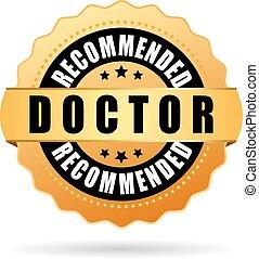 recomendado, doutor, ícone