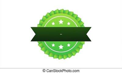 recommander, recommandé, blanc, arrière-plan., vert, étiquette, illustration., icon., stockage