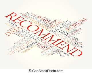 Recommend word cloud, technology business concept background