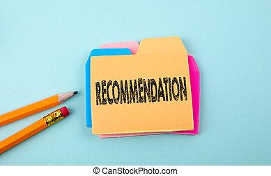 Recommendation, Business Concept