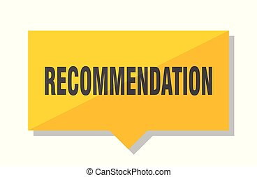 recommendation price tag - recommendation yellow square...
