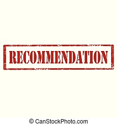 Recommendation-red stamp