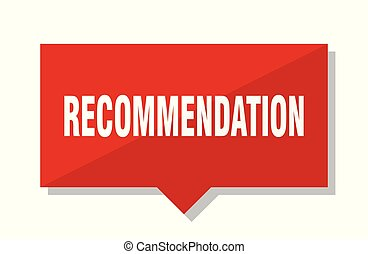 recommendation red tag - recommendation red square price tag