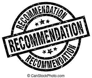 recommendation round grunge black stamp