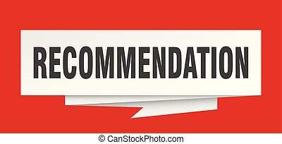 recommendation sign. recommendation paper origami speech...
