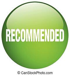 recommended green round gel isolated push button
