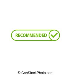 Recommended icon with check mark