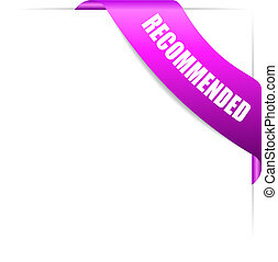 Recommended product corner ribbon - Recommended product pink...