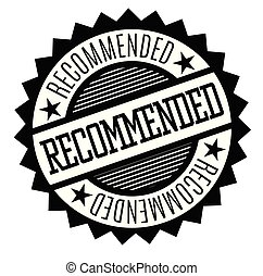 recommended rubber stamp black. Sign, label sticker