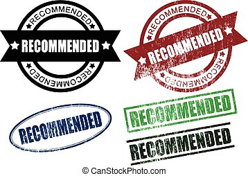 Recommended Rubber Stamps (Vector) - Set of Recommended...