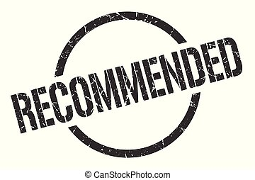 recommended stamp - recommended black round stamp