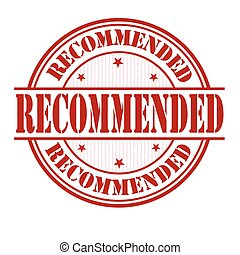 Recommended stamp - Recommended grunge rubber stamp on white...