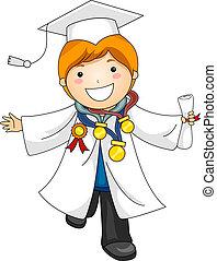 recompensas, graduação, criança