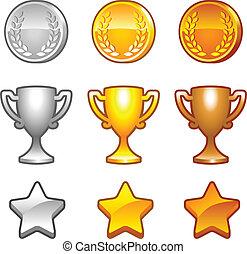 recompensas, jogo, desporto