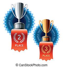 recompensas, prata, bronze