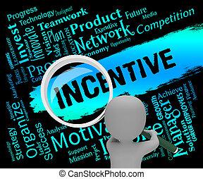 recompensas, prima, incentivo, interpretación, significado, palabras, 3d