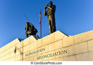 reconciliation:, il, peacekeeping, monumento, -, ottawa,...