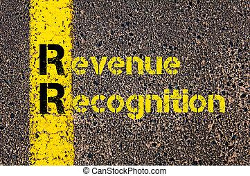 reconnaissance, business, revenu, comptabilité, rr, acronyme