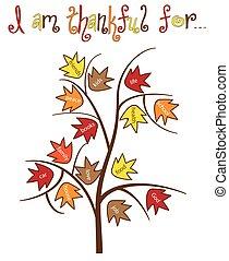 reconnaissant, arbre