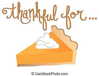 reconnaissant, tarte, citrouille
