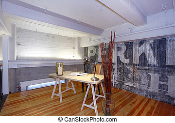 reconstructed, ufficio., mezzanine