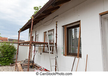 Reconstruction of the old house (insulation facade ...