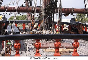 Reconstruction of the VOC ship The Batavia - Deck of the VOC...