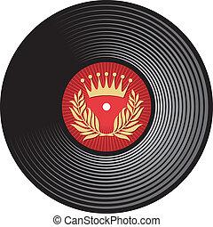 record), disco, vinil, vetorial, (vinyl