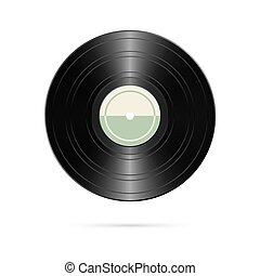 record., illustration, réaliste, vecteur, retro, design., vinyle