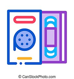 record player icon vector outline illustration - record ...