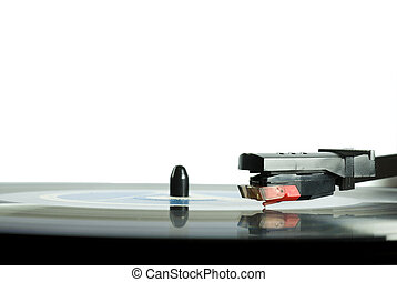 Record Player Needle Detail. - Record player needle close-up...
