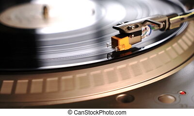 Record Player Phonograph Audio Device Needle on Vinyl - A...