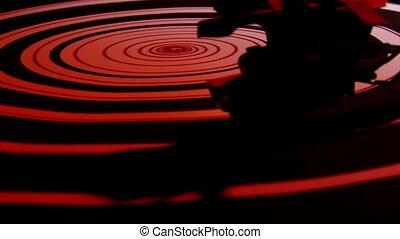 Record player, spiral